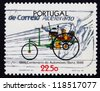 PORTUGAL - CIRCA 1986: a stamp printed in the Portugal shows Benz, 1886, Automobile Centenary, circa 1986 - stock photo