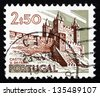 PORTUGAL - CIRCA 1973: a stamp printed in the Portugal shows Castle, Vila da Feira, Historical Building, circa 1973 - stock photo