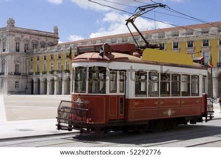 Portugal - Old touristic tramway in Lisbon