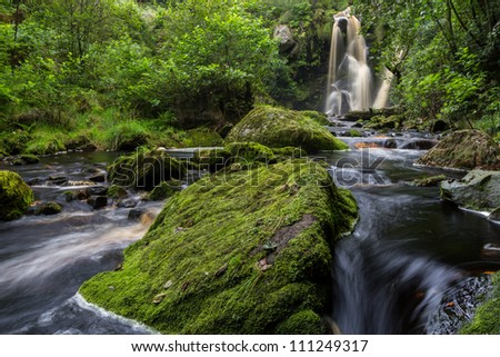 Posforth Gill waterfall, the Valley of Desolation