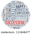 Positive concept - Word collage composed in circle shape - stock photo