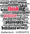 Positive thinking info-text graphics and arrangement concept (word cloud) - stock