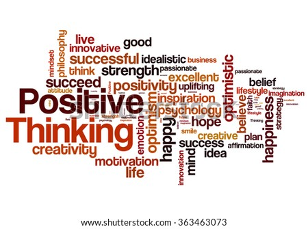 Positive Thinking Word Cloud Positive Thinking Stock
