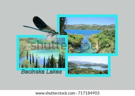 Postcard design bacina lakes croatia bacinska stock photo postcard design for the bacina lakes in croatia bacinska jezera in croatian sciox Image collections