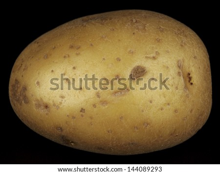 Potatoe crushed under black patent high heels