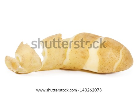 Potato peel isolated on a white background