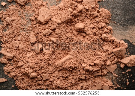 Powder cosmetic for coloring and face protection
