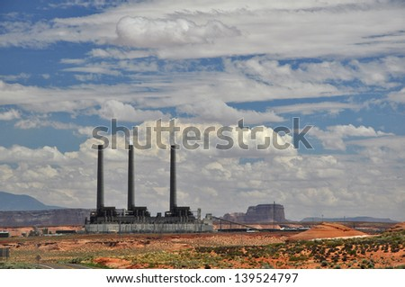 Power Station in Nevada, USA
