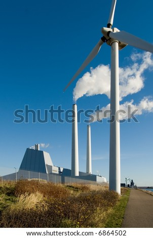 Powerplant and wind turbine