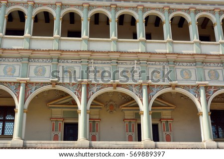 Hanover germany april 18 2016 street stock photo 475144330 for Exterior design elements