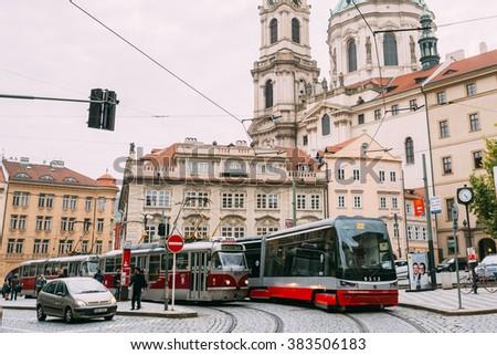 old tram prague street - photo #5