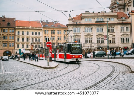 old tram prague street - photo #48
