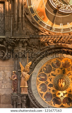 Prague Orloj Astronomical & Religious Saints Calendar Clock
