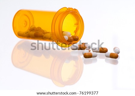 Prescription Drugs Spilling from Container