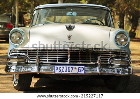 PRETORIA, SOUTH AFRICA - MAY 29, 2014: Ford Fairlane old timer car on a parking lot.