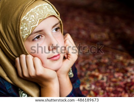 Pretty muslim girl portrait
