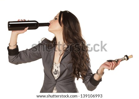 https://thumb10.shutterstock.com/display_pic_with_logo/1378012/139106993/stock-photo-pretty-woman-drinking-wine-from-the-bottle-and-holding-wine-opener-in-the-other-hand-139106993.jpg