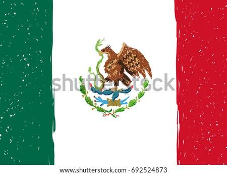 mexican flag eagle symbol mexico stock vector 718214881