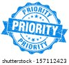 Priority Grunge Stamp - stock vector