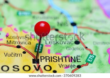 Pristina Pinned On Map Kosovo Stock Photo Shutterstock - pristina map