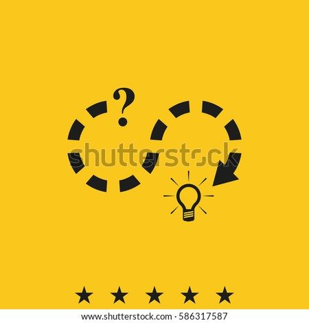 Problem Solution Path Vector Icon Simple Stock Vector ...