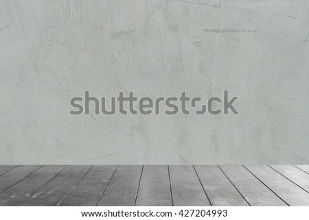 Product display template, black wooden table top on concrete background - used for background , display your products or backdrop in nature concept.