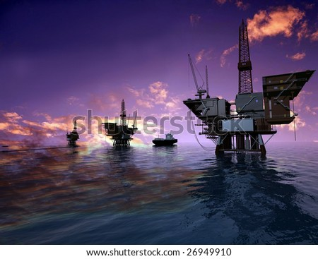 Production of petroleum in the sea