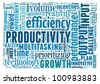 Productivity concept in word collage - stock