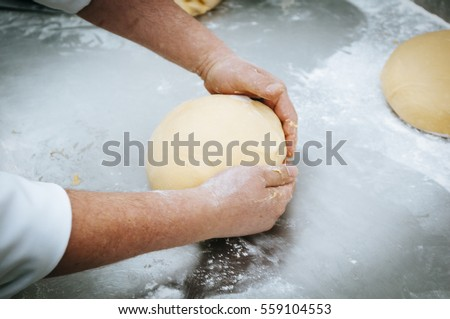 Professional breadmaking making bread