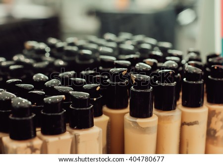 Professional makeup foundations for light skin in peach and ivory tones