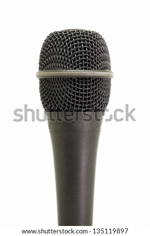 Professional microphone isolated on white