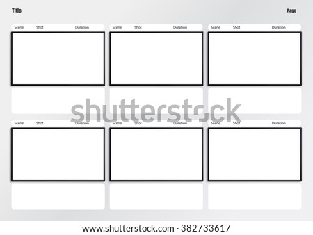 Professional of film storyboard template for easy to present the process of story.