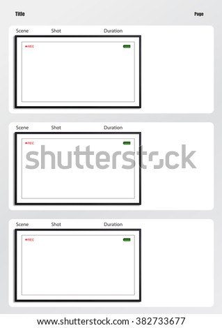 Professional Film Scale Storyboard Template Easy Stock