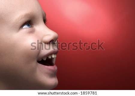 profile of smiling boy