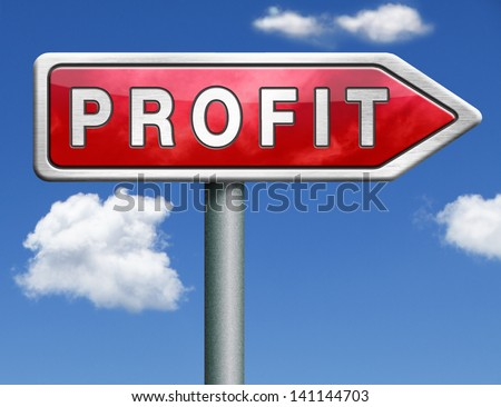 profit way to progress prosperity success and wealth financial growth profit icon profit button red road sign arrow