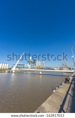Puerto Madero, also known within the urban planning community as the Puerto Madero Waterfront district in Buenos Aires, Argentina.