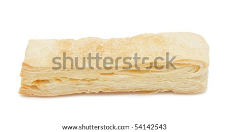 Puff pastry, isolated on a white background