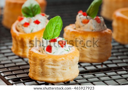 Puff Pastry Cream Cheese Dill Paprika Stock Photo 465927917 ...