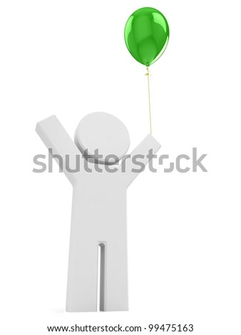 Puppet with green balloon