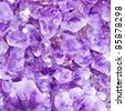 Purple amethyst crystals close-up See my portfolio for more - stock photo