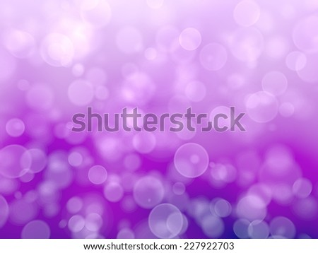 Purple Festive Christmas background. Elegant abstract background with bokeh defocused lights. 3d render.