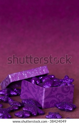 purple glittering christmas decoration