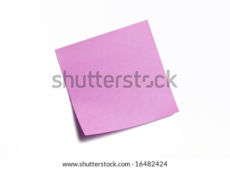 Purple Sticky Note