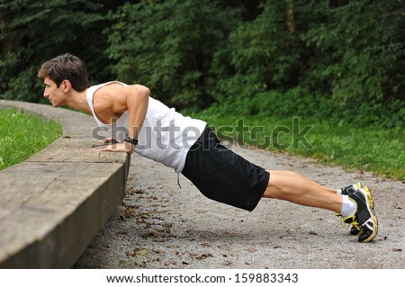 Push ups in the park