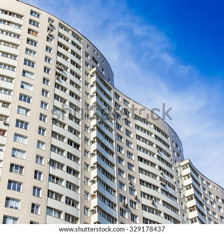 pushkino russia on september 27 2015 fragment of the new apartment multi
