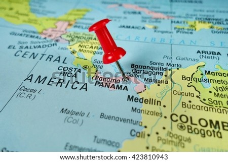 Pushpin Marking On Panama Map Stock Photo Shutterstock - Map of panama