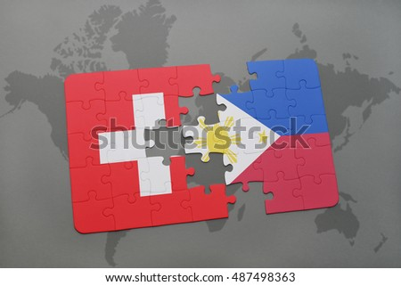 Puzzle national flag china philippines on stock illustration puzzle with the national flag of switzerland and philippines on a world map background 3d gumiabroncs Choice Image