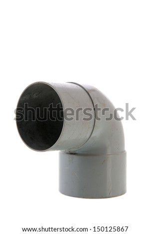 PVC tube isolated over white background