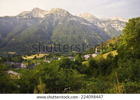 Pyrenees in Gistain. Huesca. Aragon. Spain. Europe.