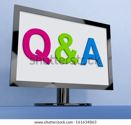 Q&a On Monitor Showing Questions And Answers Online